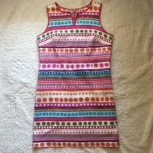 Talbots tank dress with zipper down the back